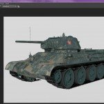 3D T-34 screenprint