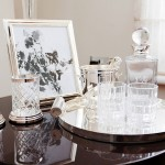 Crystal whiskey set in a luxurious flat in central London