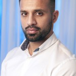 portrait profile of London based entrepreneur wearing white shirt