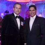 Two Businessman Posing at Platis 2015 Global Metal Award Function