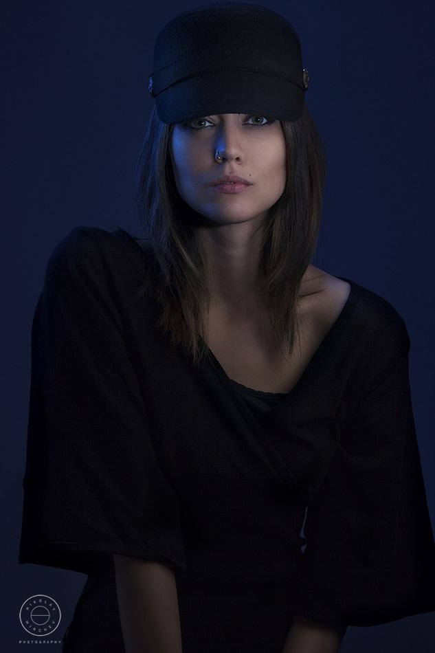 Fashion portrait of a Spanish beautiful female model.