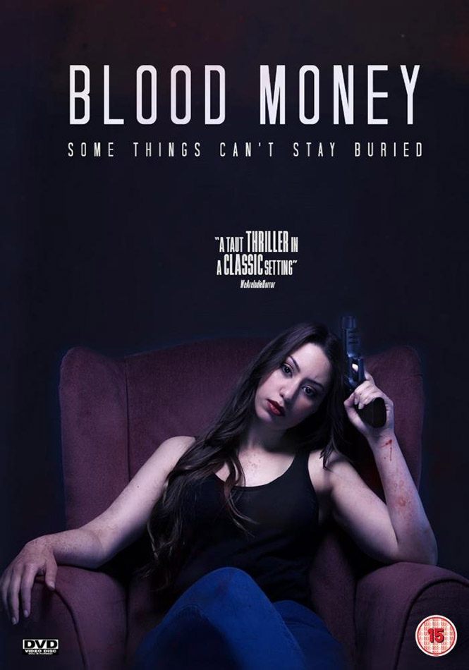 Sabrina Hansen on DVD cover for the indie movie Blood Money
